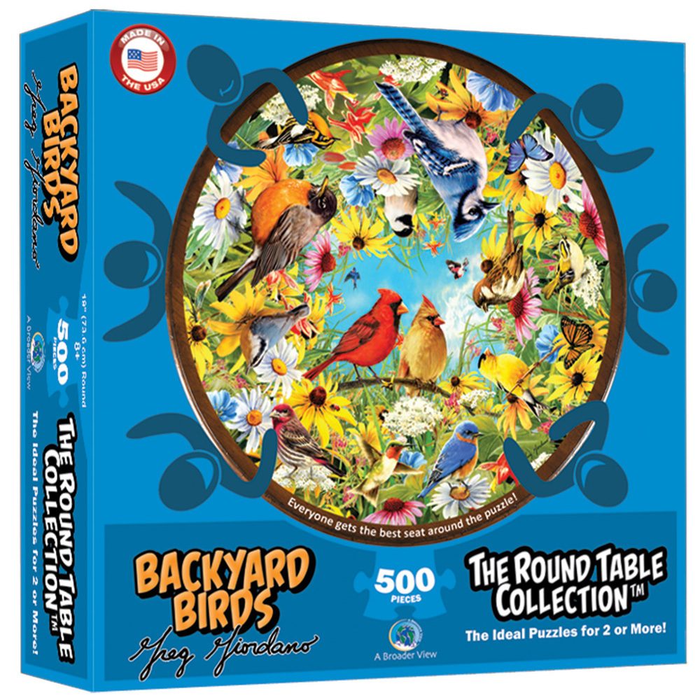 Round Table Backyard Birds 500