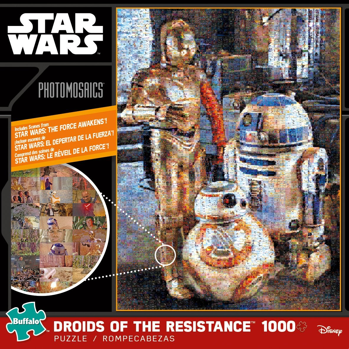 Star Wars Assortment: Droids Of The Resistance Photo Mosaic 1000