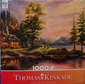 Thomas Kinkade Orange 1000