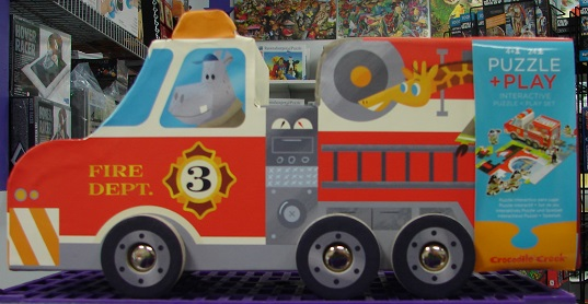 Puzzle & Play Set Fire Truck