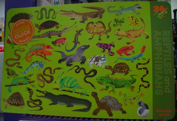 2-Sided Reptiles-Amphibian Placemat
