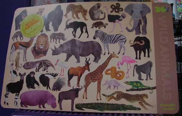 2-Sided Wild Animals Placemat