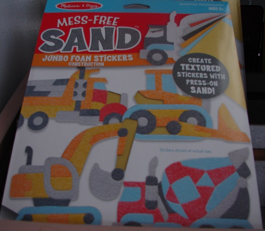 Mess Free Sand Jumbo Foam Stickers
